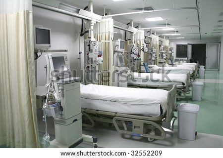 hospital emergency room intensive care - stock photo