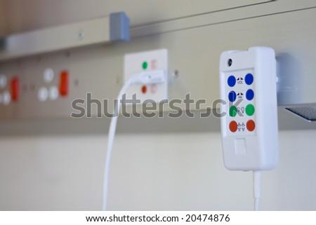 hospital nurse call button - stock photo