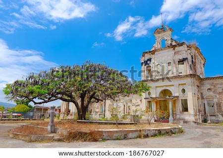 Hospital San Juan de Dios in Granada, Nicaragua. The construction began 1886, it was opened 1888 and closed 1998 - stock photo