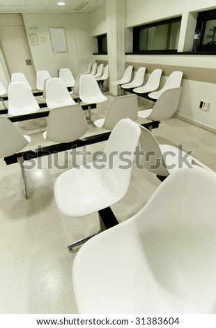 Hospital waiting room in Spain, Europe. - stock photo