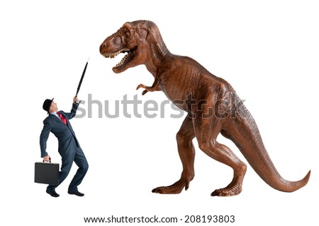hostile business takeover concept isolated on a white background - stock photo