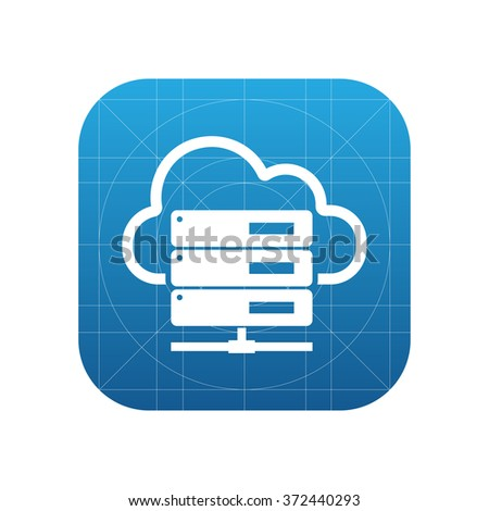 Hosting server icon for web and mobile - stock photo