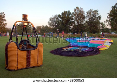 Hot Air Balloon and Basket - stock photo