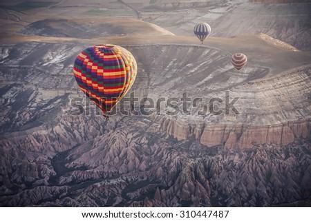 hot air Balloon, Cappadocia, Turkey - stock photo