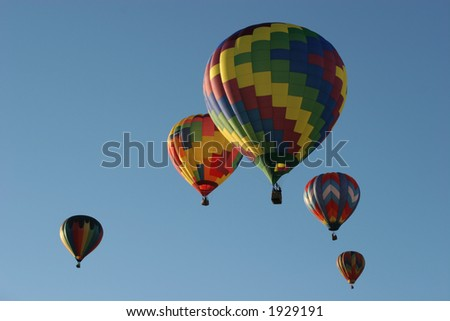 Hot air balloon festival - stock photo