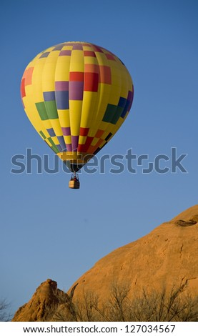 Hot air balloon in Gallup,New Mexico. - stock photo