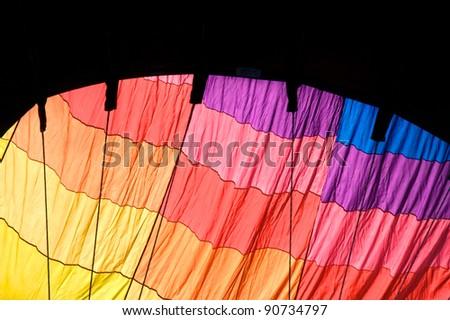 Hot Air Balloon Inflating - stock photo