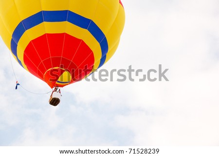 Hot air balloon on sky - stock photo