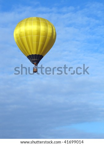 Hot Air Balloon taking off in Grove City, Ohio, with sky ideal as copy space - stock photo