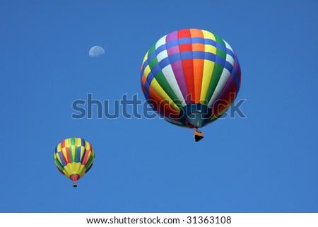 Hot air balloons - stock photo