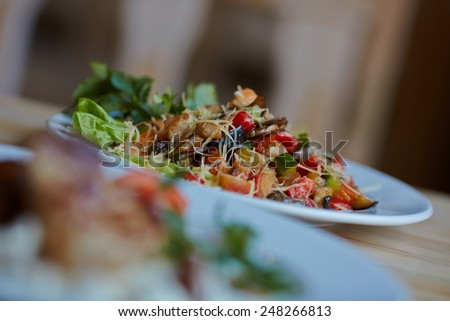 hot appetizer - stock photo