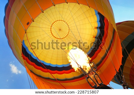 Hot Balloon in Turkey  - stock photo