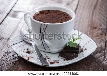 Hot Chocolate in a mug - stock photo