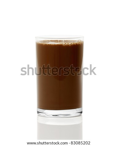 Hot Chocolate. Isolated with clipping path. - stock photo