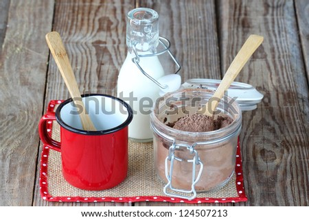 Hot chocolate mix - stock photo