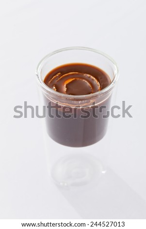 hot chocolate with orange - stock photo