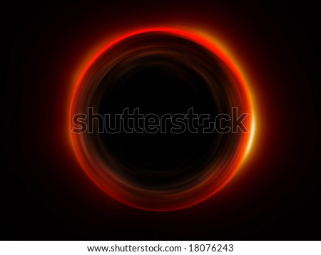 hot circular alien object - stock photo