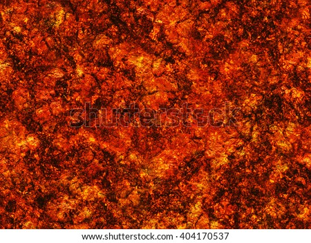 hot coal lava texture after eruption volcano. grained texture - stock photo