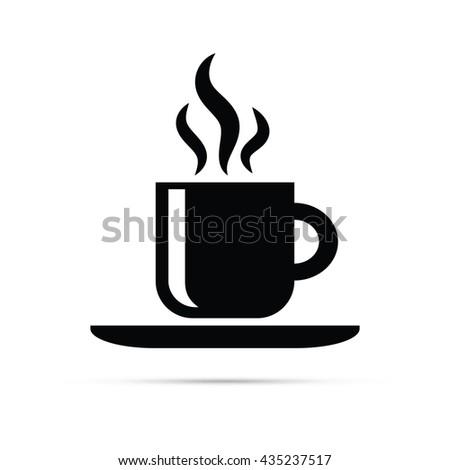Hot Coffee Icon.  Raster Version - stock photo