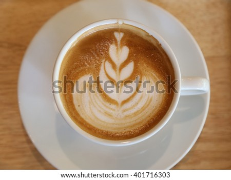 Hot Coffee in love. - stock photo