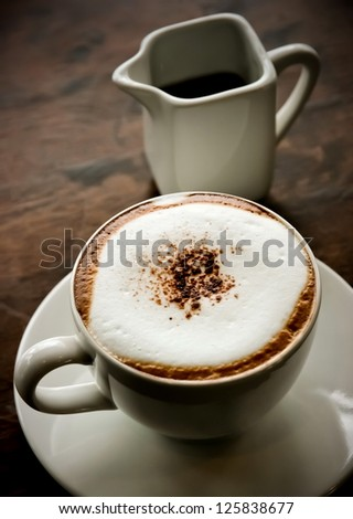 Hot coffee in the afternoon - stock photo
