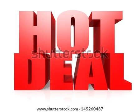 Hot deal word - stock photo