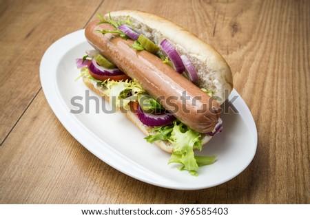 Hot dog - stock photo