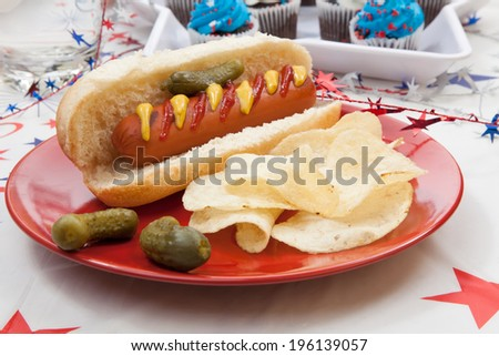 Red Plaid Hot Dog Tray