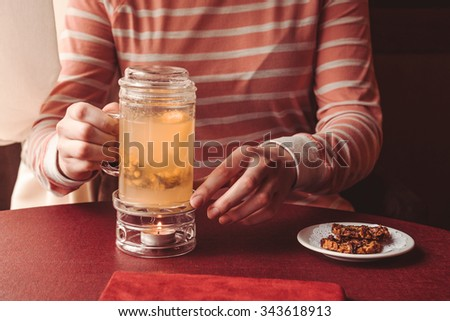 Hot drink  - stock photo