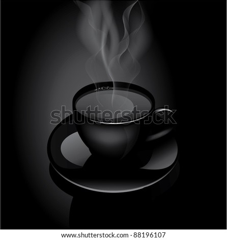 Hot drink cup:raster version - stock photo
