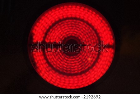 Hot electric stovetop burner on high - stock photo