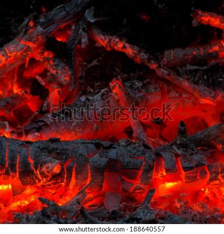 Hot ember pattern - stock photo