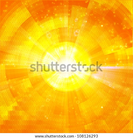 hot explosion summer background - stock photo