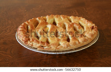 "Hot fresh baked apple pie, just like ""Mom"" makes.   various views - stock photo"