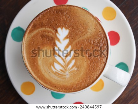 Hot Latte is good for your morning - stock photo