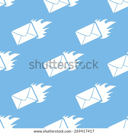 Hot letter blue with white seamless pattern for web design - stock photo