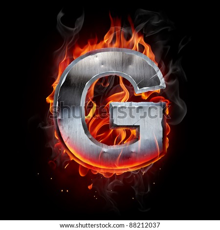 Hot metal letter - stock photo