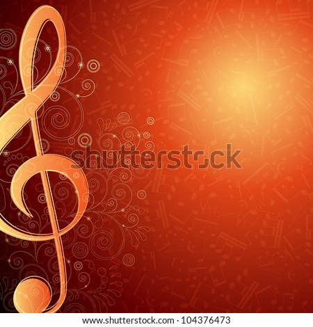 Hot musical background - stock photo