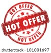 Hot offer grunge stamp - stock photo