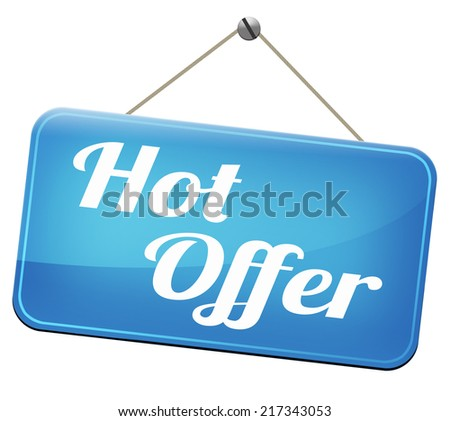 hot offer  or sign for online internet web shop. Webshop shopping sales  announcing bargain for low and best price with the best value for you money.  - stock photo
