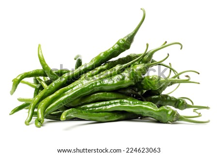 Hot Pepper on white background  - stock photo