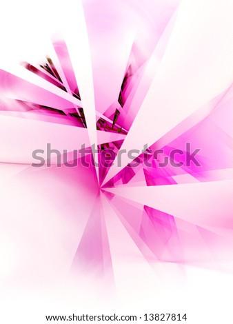 Hot Pink Hub -fractal design - stock photo