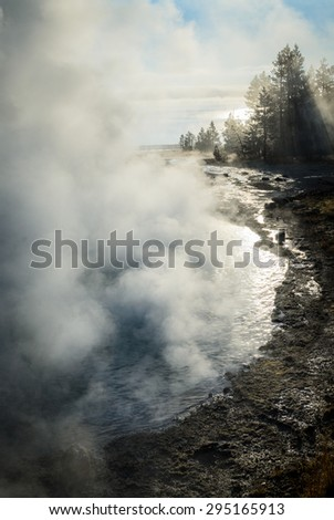 Hot Pond at Yellow Stone National Park - stock photo