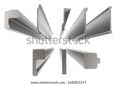Hot rolled steel isolated on white - stock photo