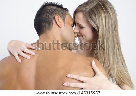 hot sexy couple - stock photo