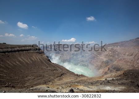 hot spring japanese volkano - stock photo
