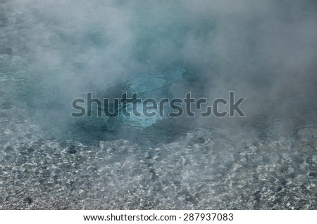 Hot spring, Yellowstone - stock photo