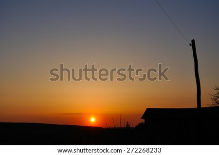hot sunset - stock photo