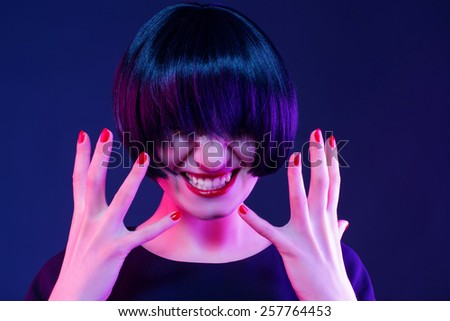 hot-tempered woman. anger furious - stock photo
