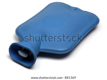 Hot water bottle, isolated on white background - stock photo